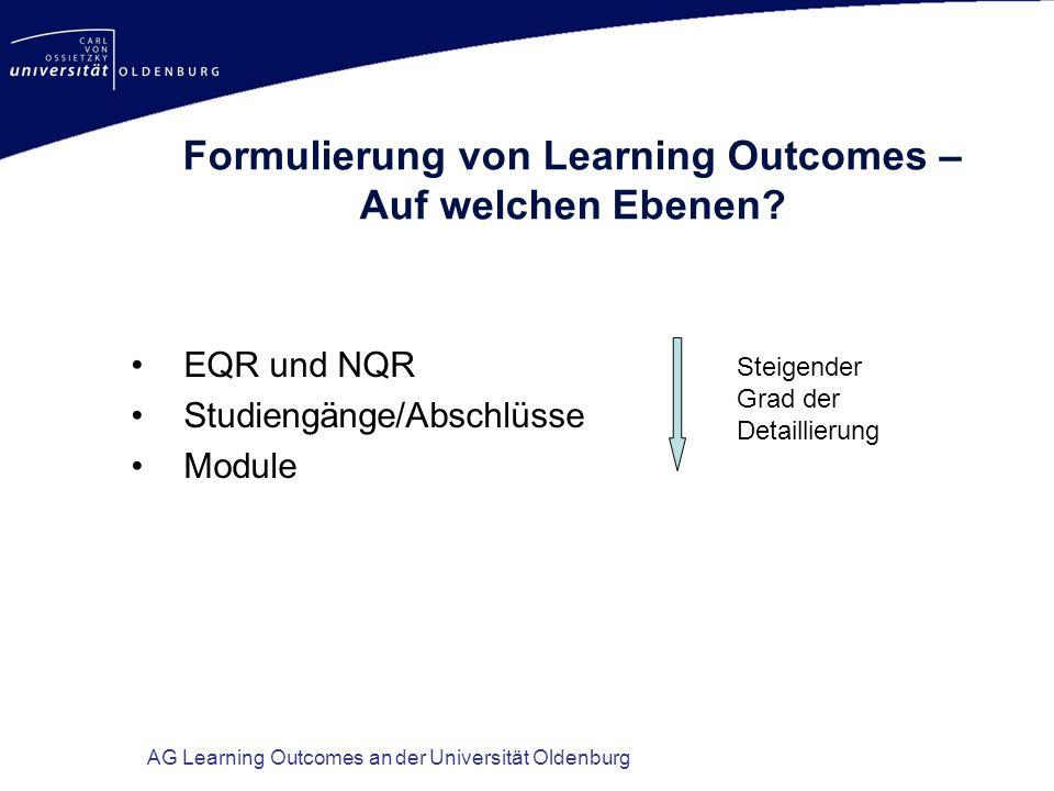 Formulierung von Learning Outcomes – Auf welchen Ebenen