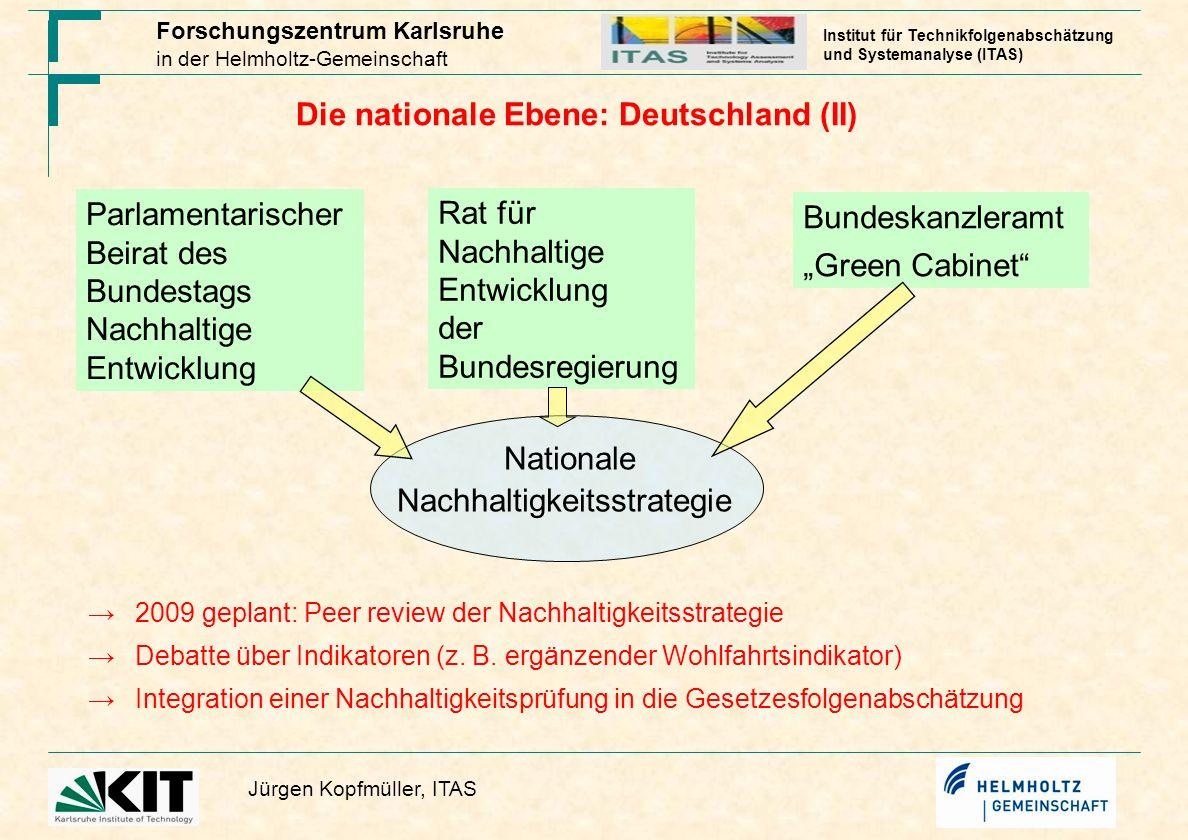 Die nationale Ebene: Deutschland (II)