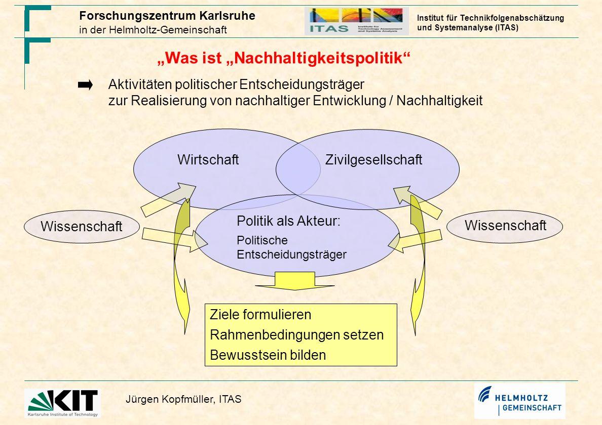 """""""Was ist """"Nachhaltigkeitspolitik"""