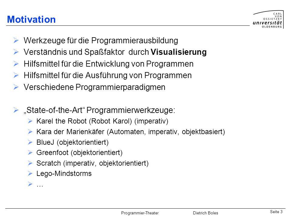 Motivation Werkzeuge für die Programmierausbildung
