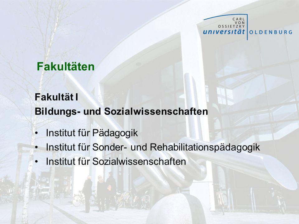 Bildungs- und Sozialwissenschaften Institut für Pädagogik