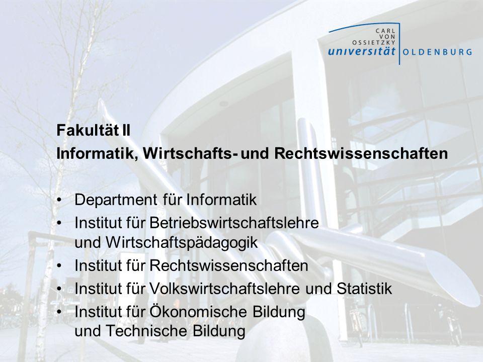 Fakultät II Informatik, Wirtschafts- und Rechtswissenschaften. Department für Informatik.