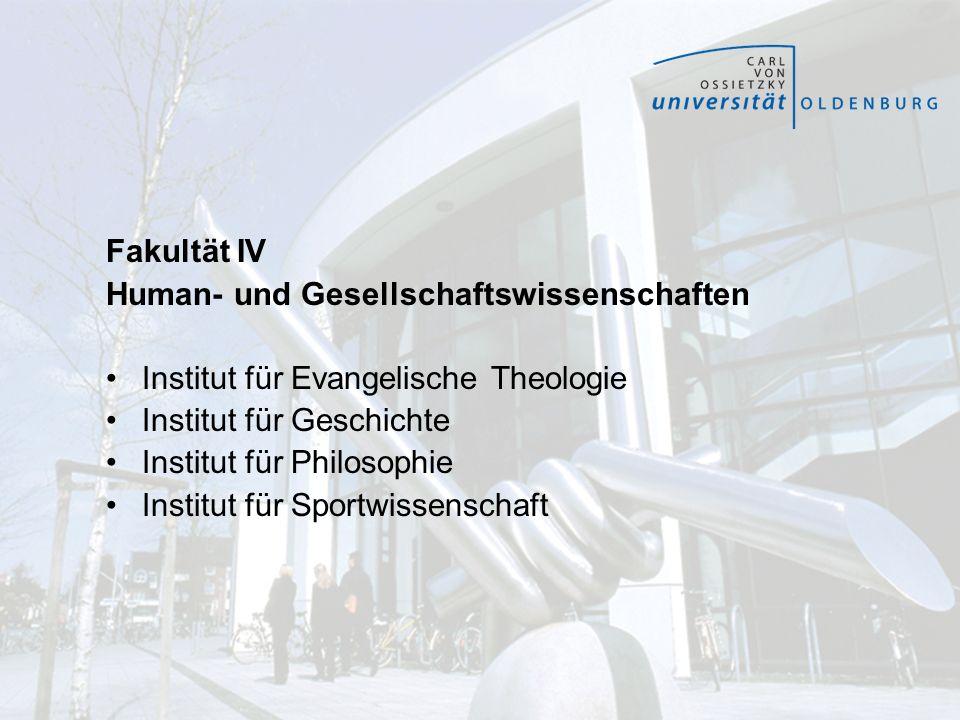 Fakultät IV Human- und Gesellschaftswissenschaften. Institut für Evangelische Theologie. Institut für Geschichte.