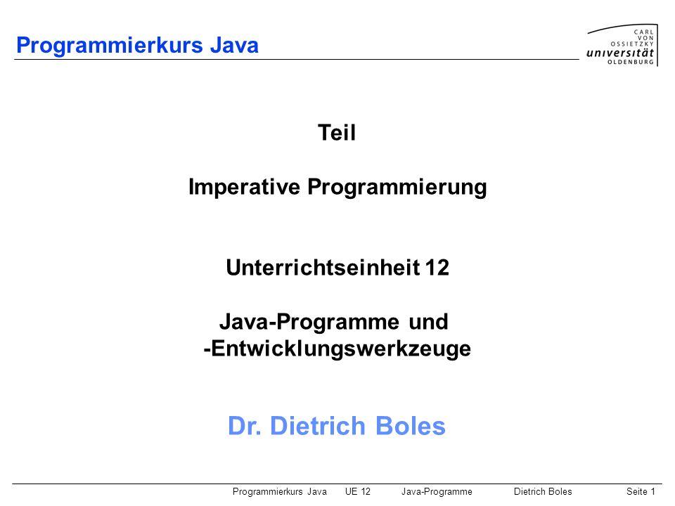Imperative Programmierung -Entwicklungswerkzeuge
