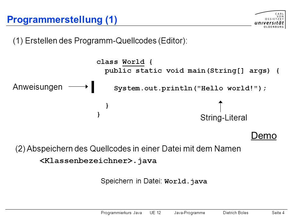 Programmerstellung (1)