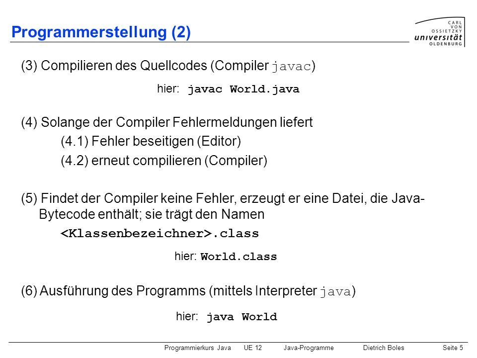 Programmerstellung (2)