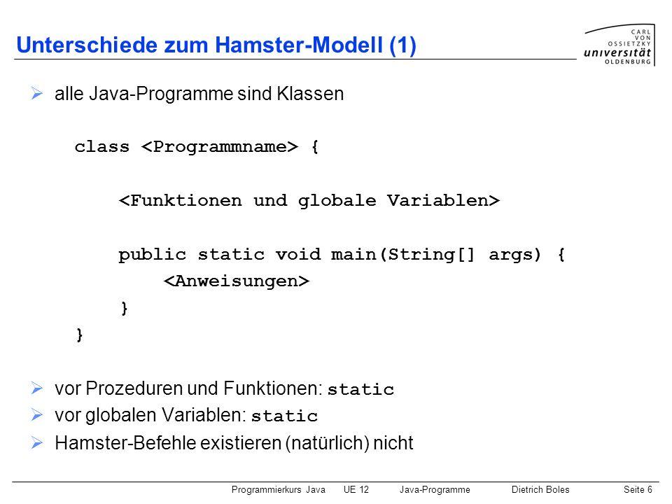 Unterschiede zum Hamster-Modell (1)