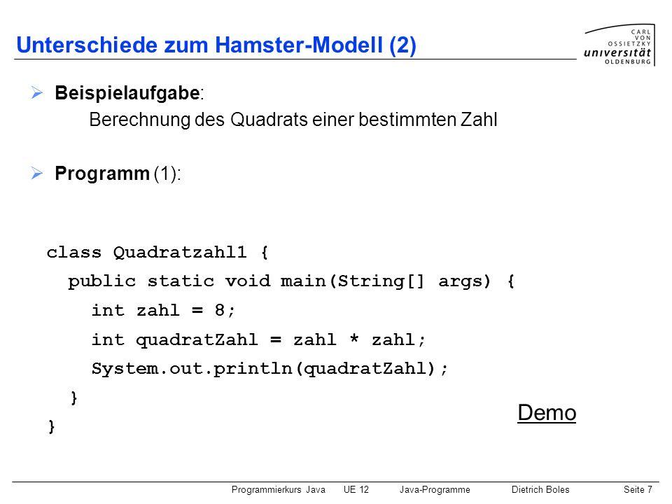 Unterschiede zum Hamster-Modell (2)