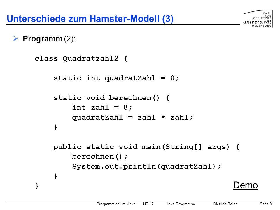 Unterschiede zum Hamster-Modell (3)