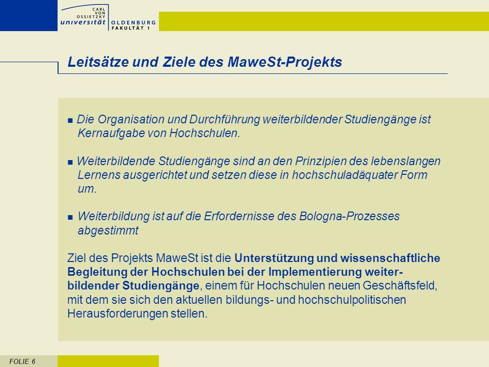Leitsätze und Ziele des MaweSt-Projekts
