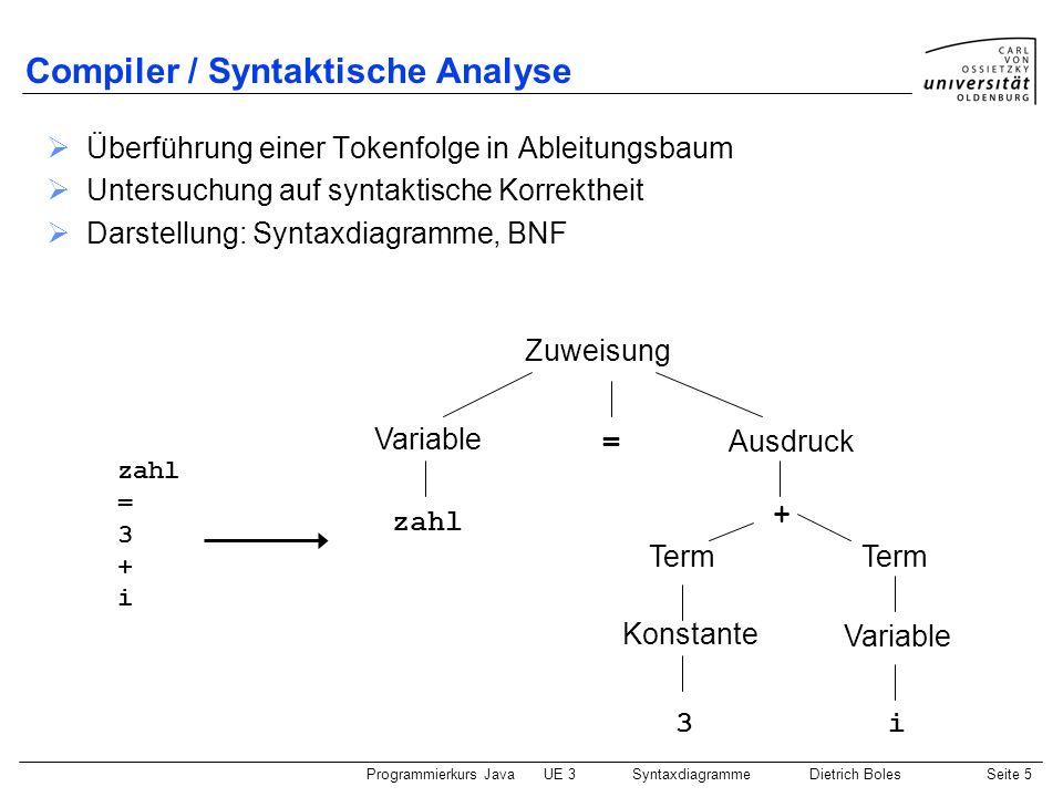 Compiler / Syntaktische Analyse