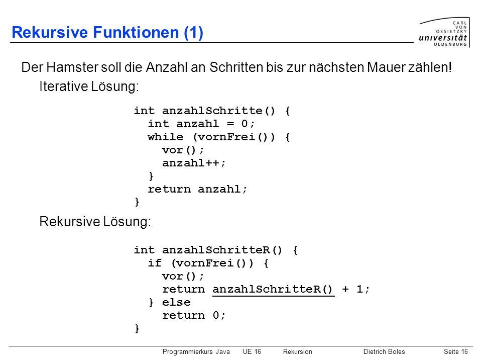 Rekursive Funktionen (1)