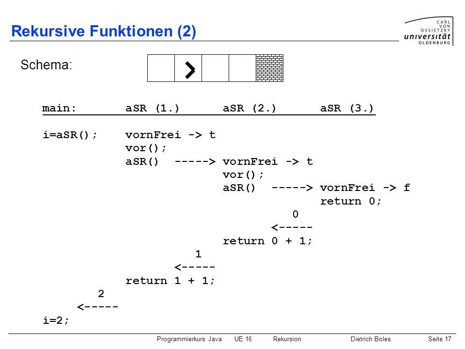 Rekursive Funktionen (2)