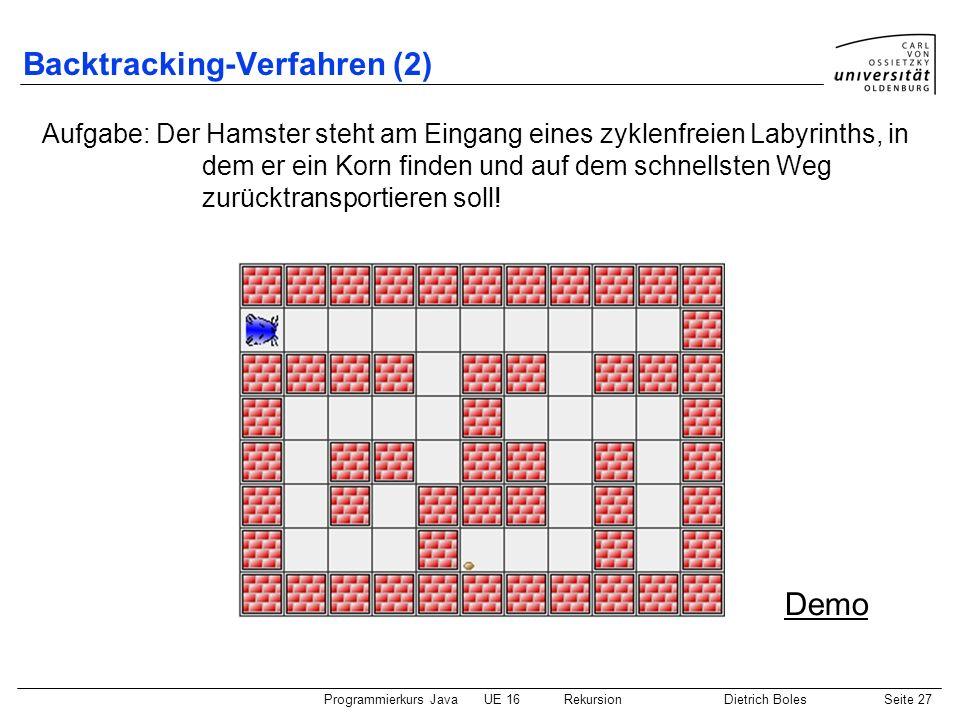 Backtracking-Verfahren (2)