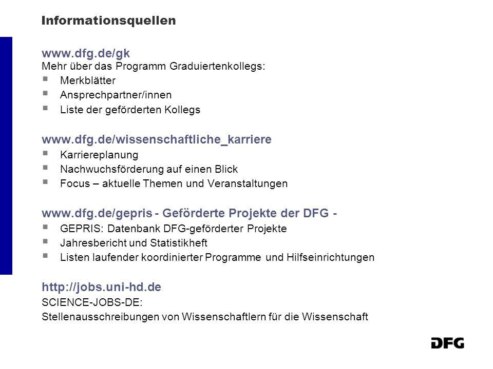 www.dfg.de/gepris - Geförderte Projekte der DFG -