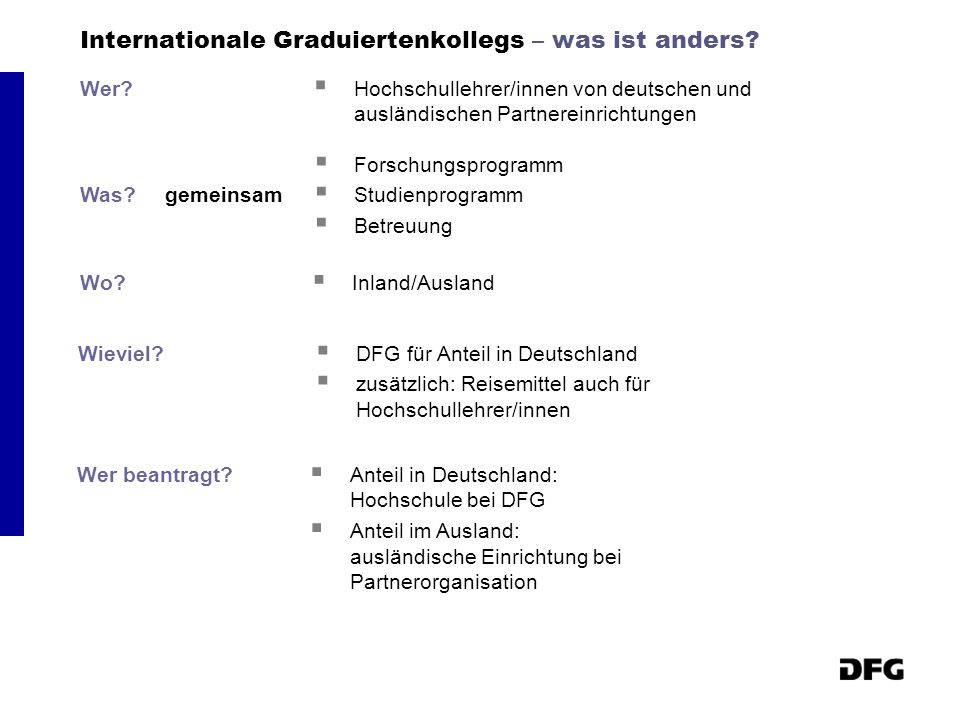 Internationale Graduiertenkollegs – was ist anders