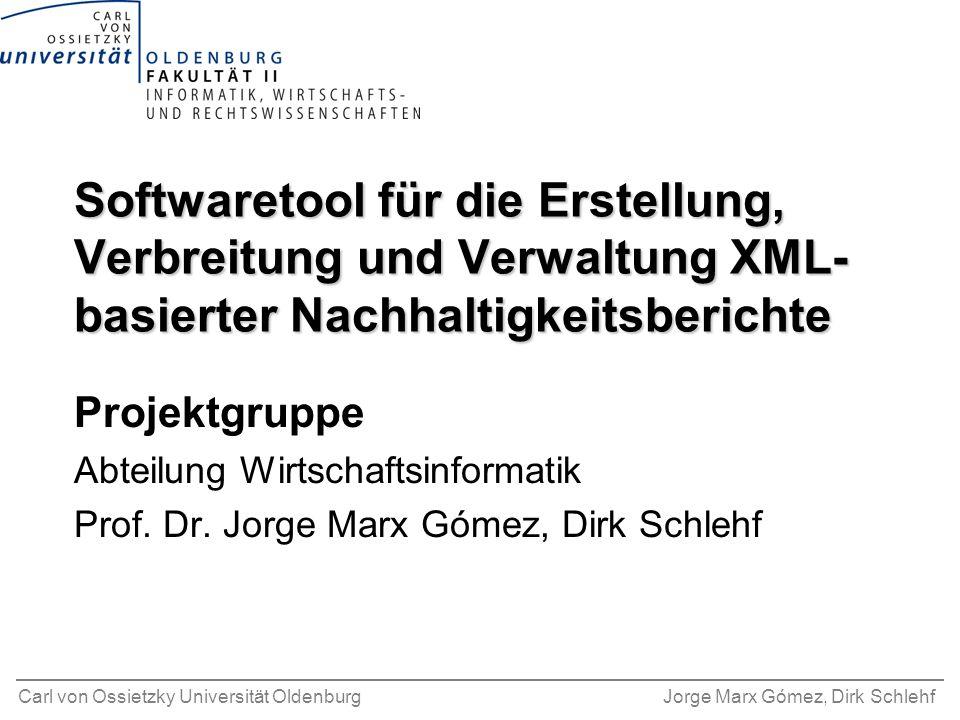 Softwaretool für die Erstellung, Verbreitung und Verwaltung XML-basierter Nachhaltigkeitsberichte