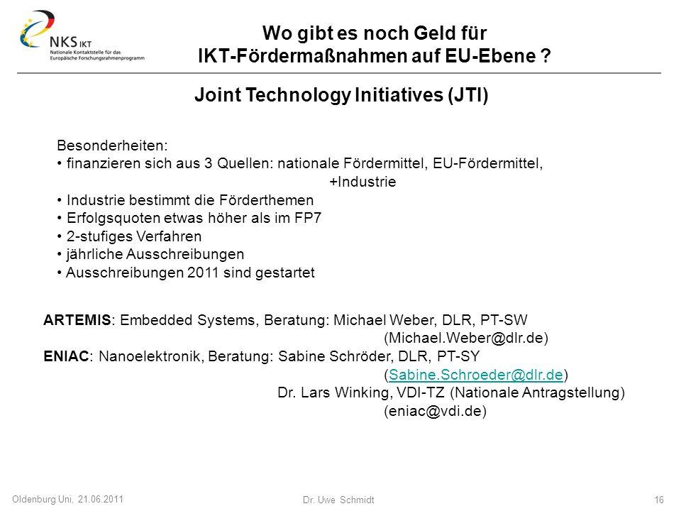 Wo gibt es noch Geld für IKT-Fördermaßnahmen auf EU-Ebene