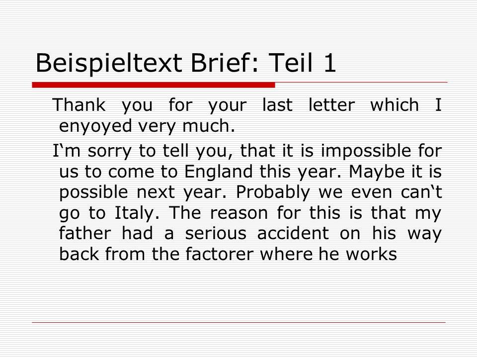 Beispieltext Brief: Teil 1