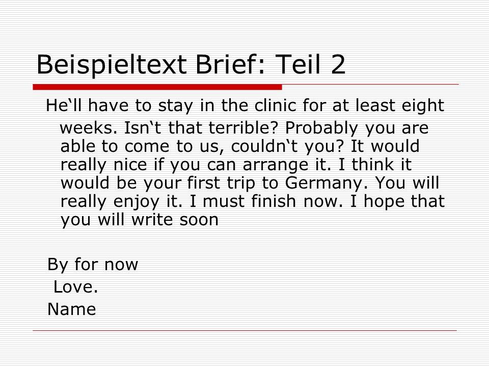 Beispieltext Brief: Teil 2
