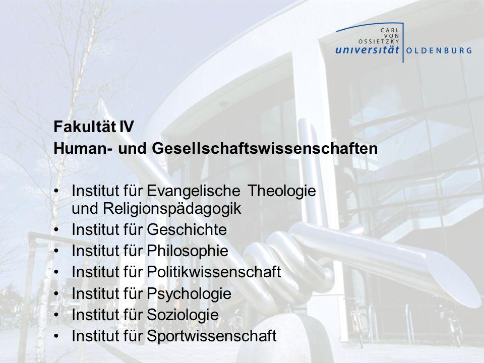 Fakultät IV Human- und Gesellschaftswissenschaften. Institut für Evangelische Theologie und Religionspädagogik.