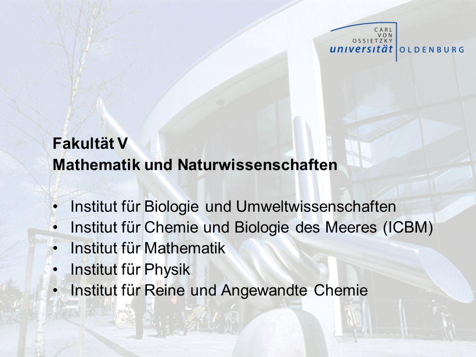 Fakultät V Mathematik und Naturwissenschaften. Institut für Biologie und Umweltwissenschaften. Institut für Chemie und Biologie des Meeres (ICBM)