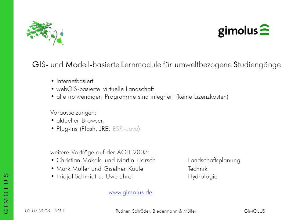 GIS- und Modell-basierte Lernmodule für umweltbezogene Studiengänge