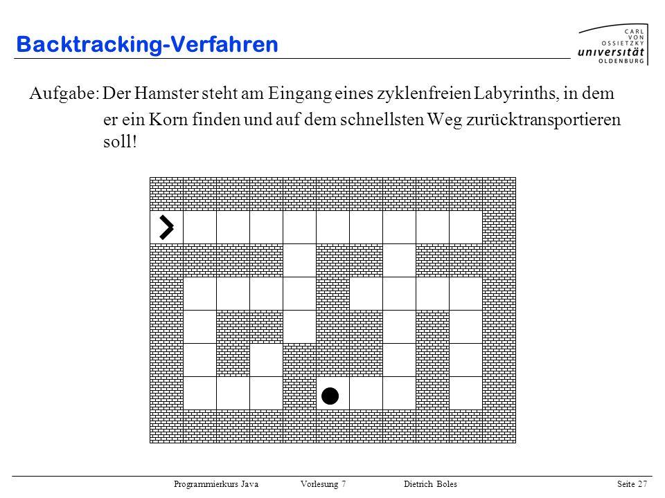 Backtracking-Verfahren