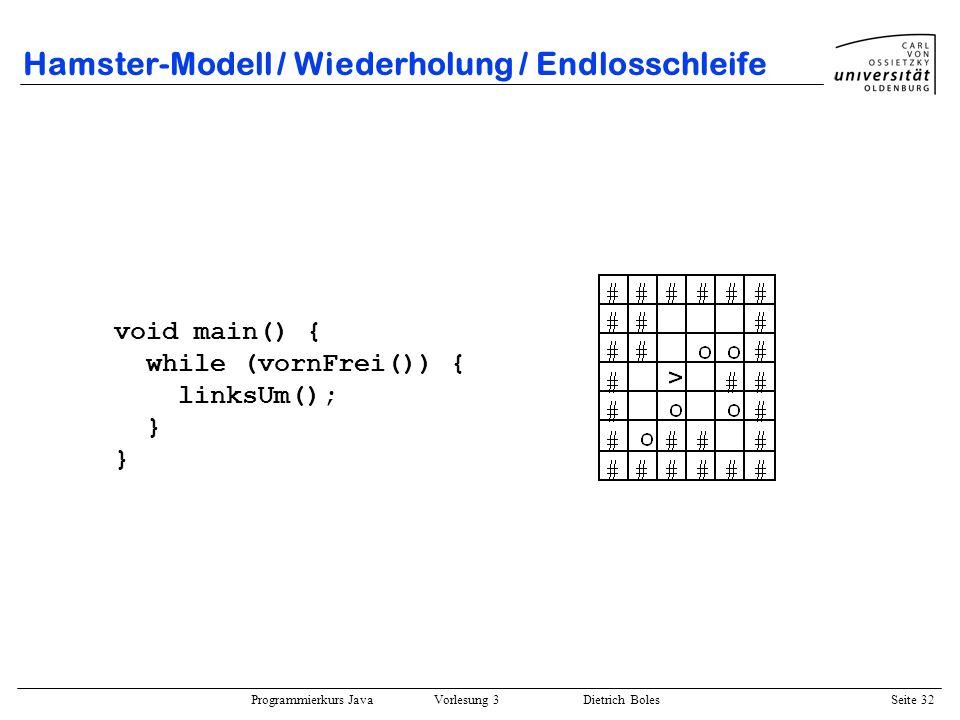 Hamster-Modell / Wiederholung / Endlosschleife