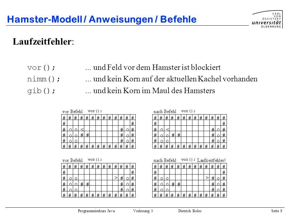 Hamster-Modell / Anweisungen / Befehle