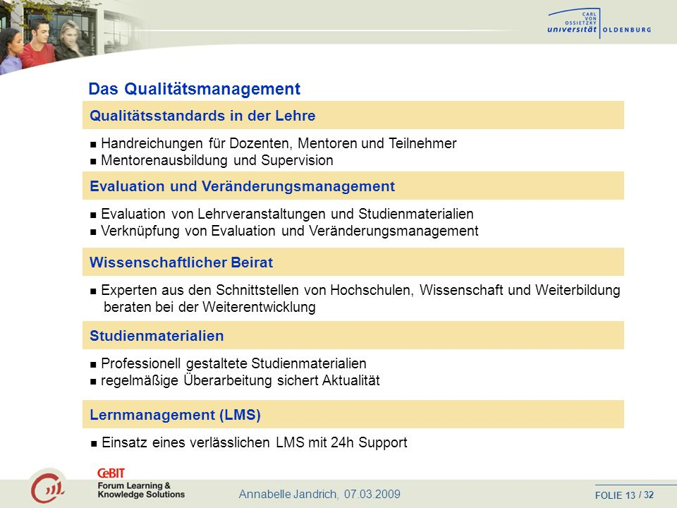 Das Qualitätsmanagement