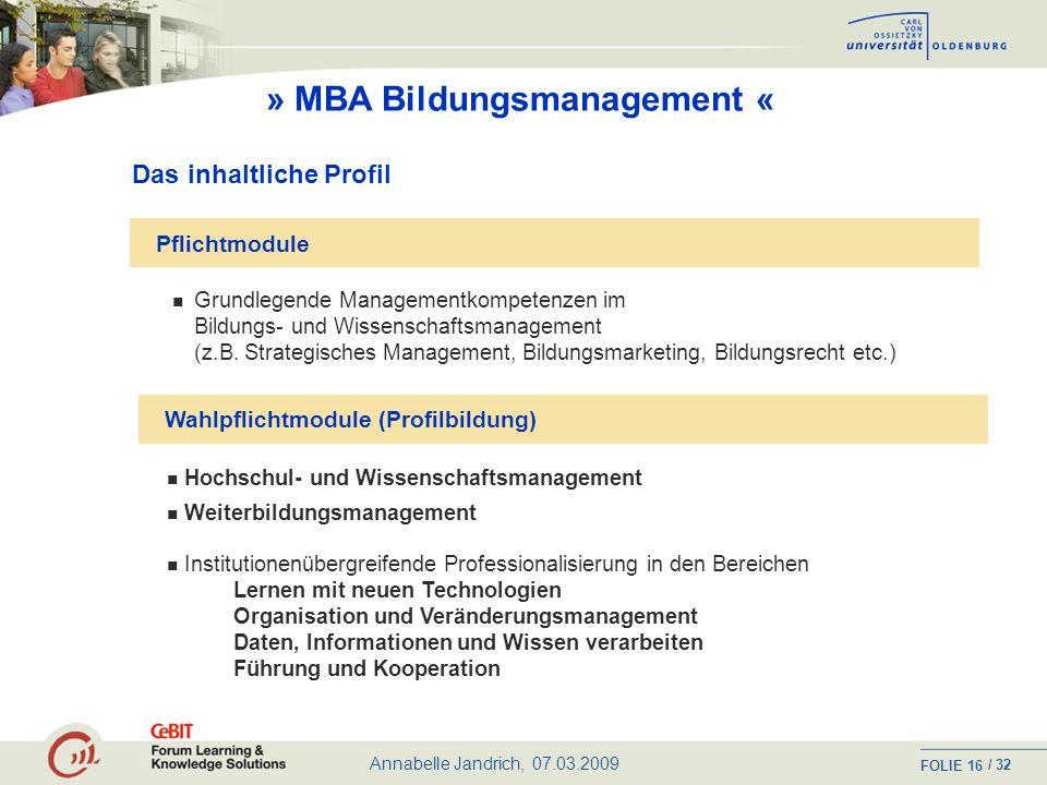 » MBA Bildungsmanagement «