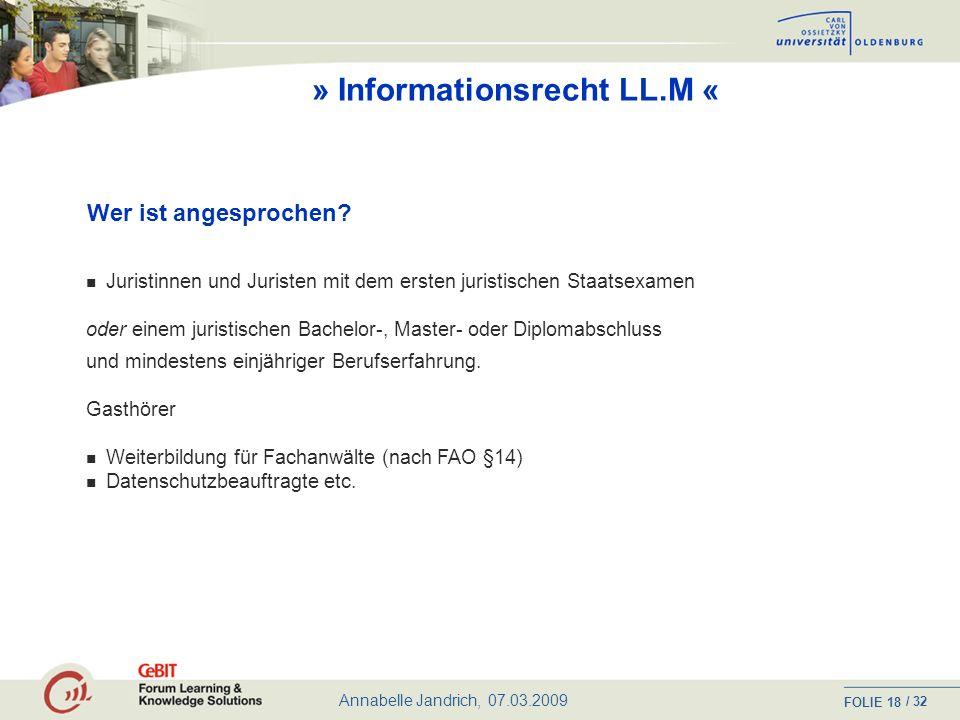 » Informationsrecht LL.M «