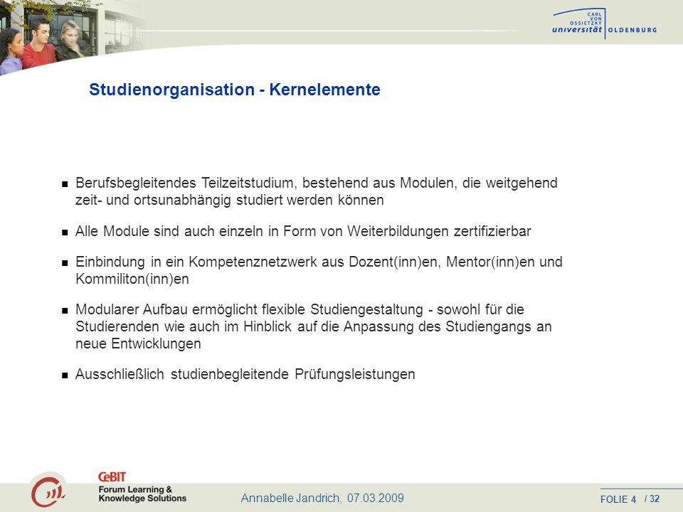Studienorganisation - Kernelemente
