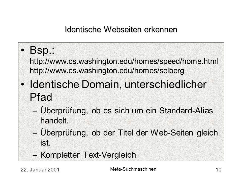 Identische Webseiten erkennen