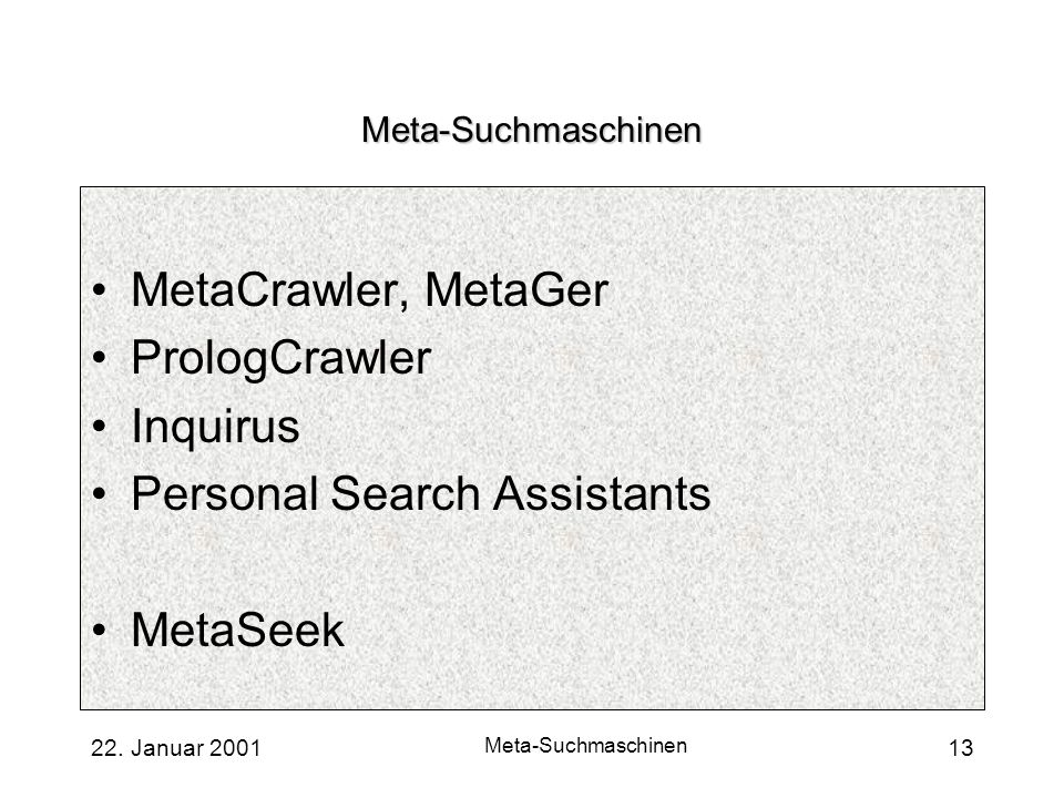 Personal Search Assistants MetaSeek
