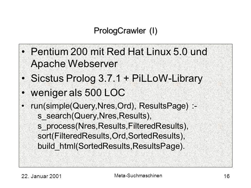 Pentium 200 mit Red Hat Linux 5.0 und Apache Webserver