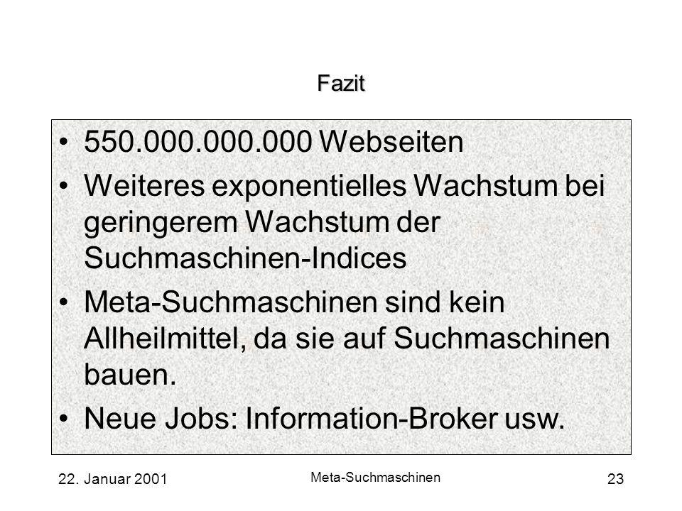 Neue Jobs: Information-Broker usw.