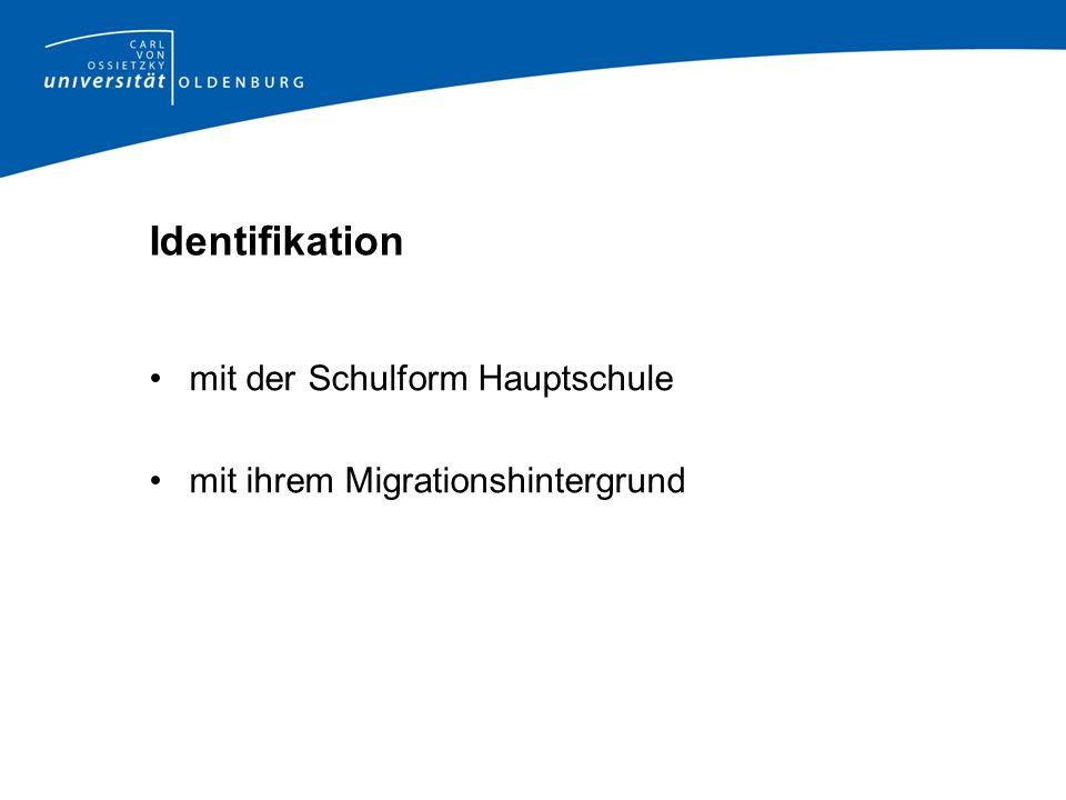 Identifikation mit der Schulform Hauptschule