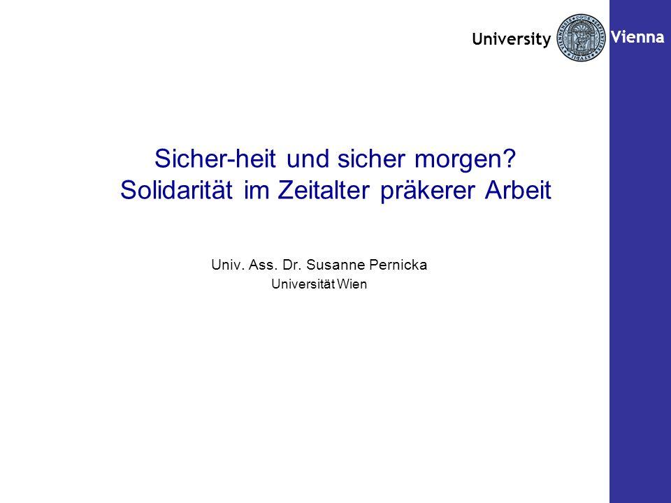Seite Univ. Ass. Dr. Susanne Pernicka Universität Wien