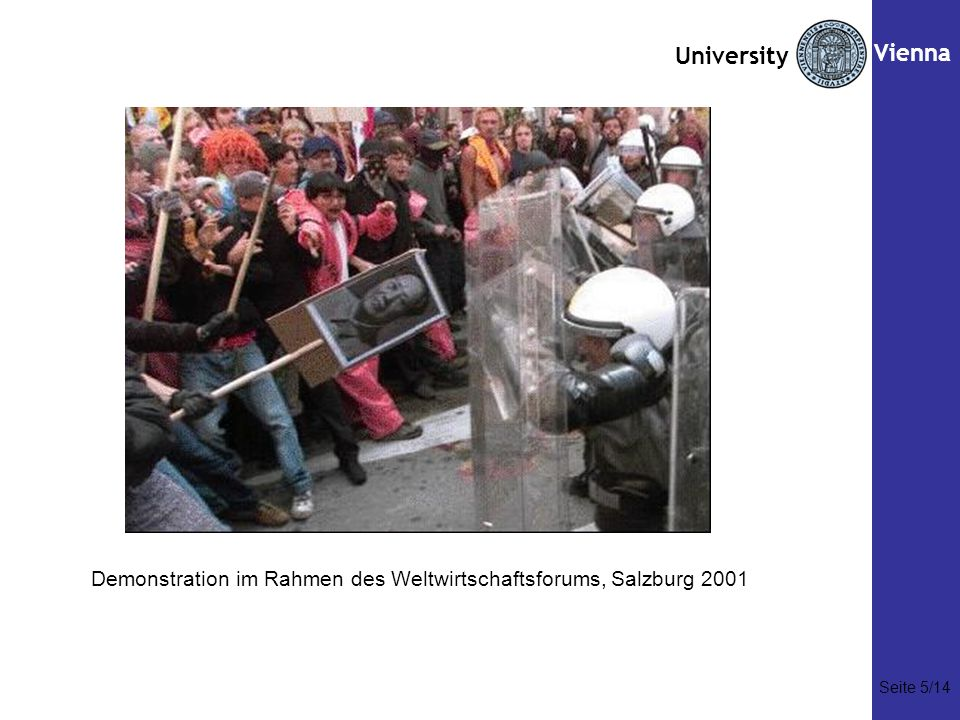 Seite Vienna Demonstration im Rahmen des Weltwirtschaftsforums, Salzburg 2001 Seite 5/14