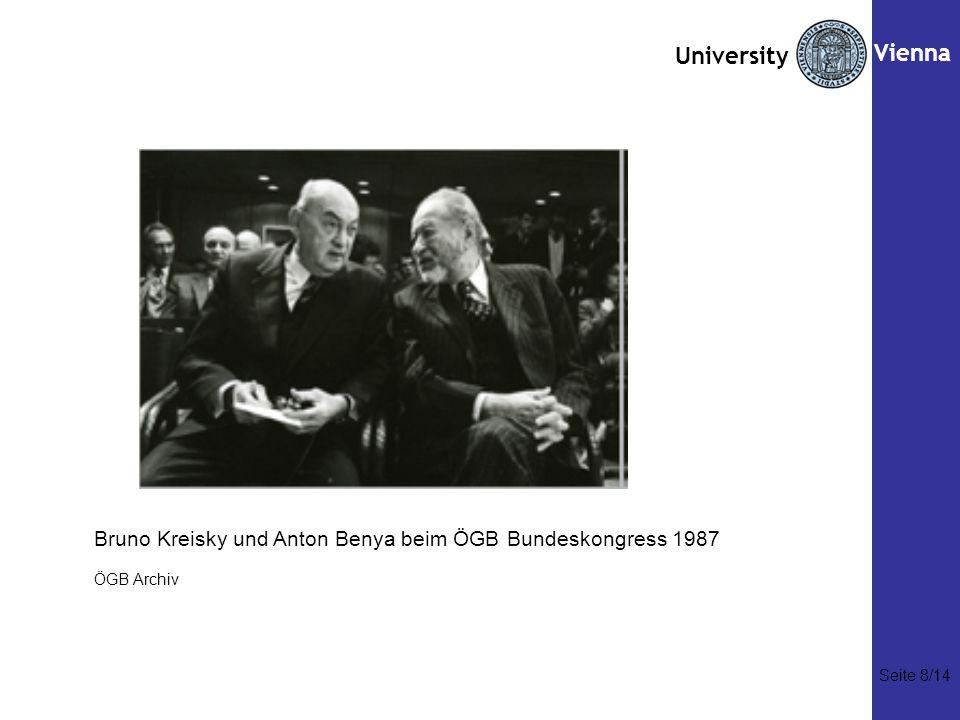 Vienna Bruno Kreisky und Anton Benya beim ÖGB Bundeskongress 1987
