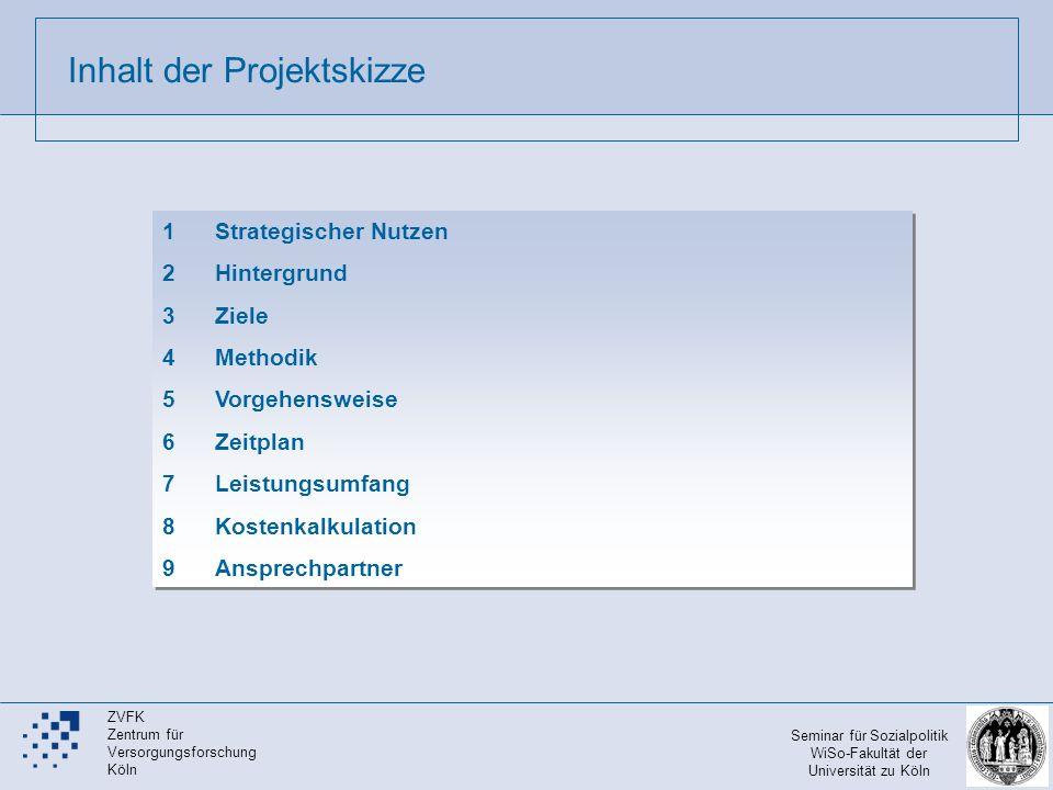 Inhalt der Projektskizze