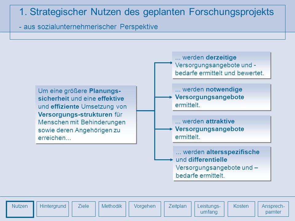 1. Strategischer Nutzen des geplanten Forschungsprojekts - aus sozialunternehmerischer Perspektive