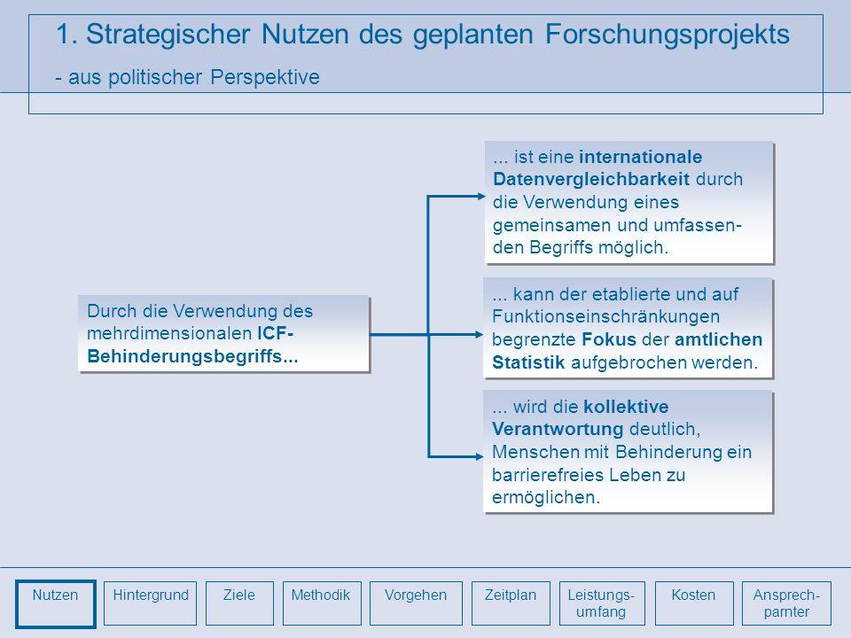 1. Strategischer Nutzen des geplanten Forschungsprojekts - aus politischer Perspektive