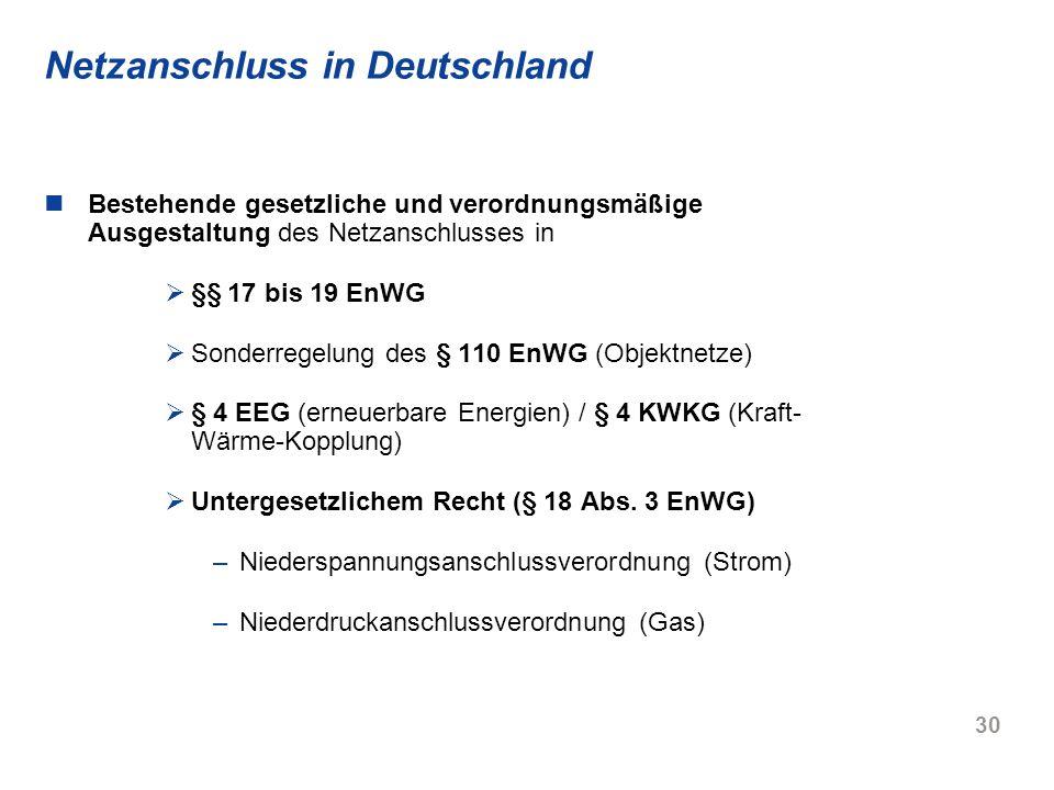 Netzanschluss in Deutschland