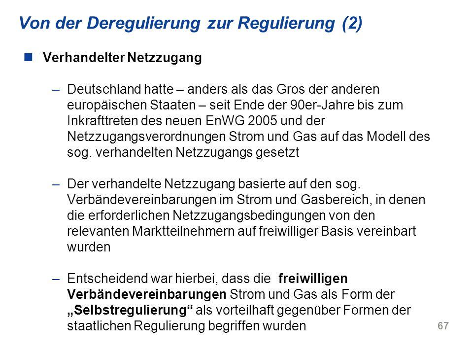 Von der Deregulierung zur Regulierung (2)