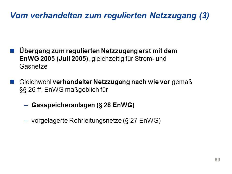 Vom verhandelten zum regulierten Netzzugang (3)