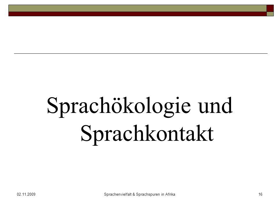 Sprachökologie und Sprachkontakt