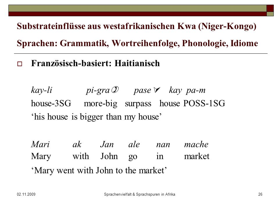 Sprachenvielfalt & Sprachspuren in Afrika